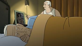 Una escena de la película Arrugas