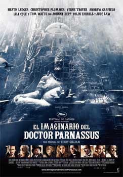 Cartel de «El imaginario del doctor Parnassus»