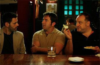 Roberto Enríquez, Antonio de la Torre y Fernando Albizu en una escena de «Gordos»