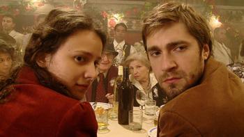 Jelena Trkulja y Nebojša Milovanović en una escena la película Honeymoons