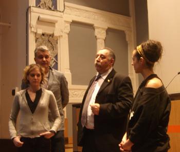 El equipo del documental: Noelia, Iván, Luis Felipe Capellín y Carmen Colunga