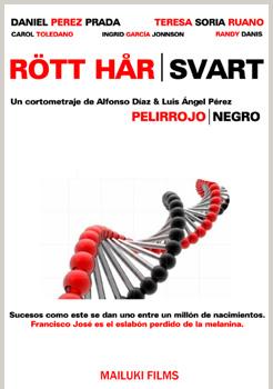 Cartel del cortometraje Rött Hår | Svart