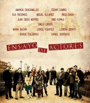 Cartel del cortometraje Ensayo de actores