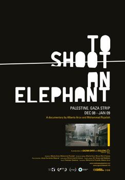 Cartel del documental To shoot an elephant