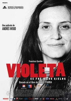 Cartel de la película Violeta se fue a los cielos
