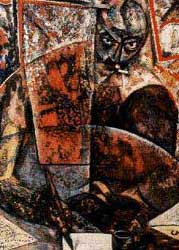 Carlo Carrá: Retrato de Marinetti