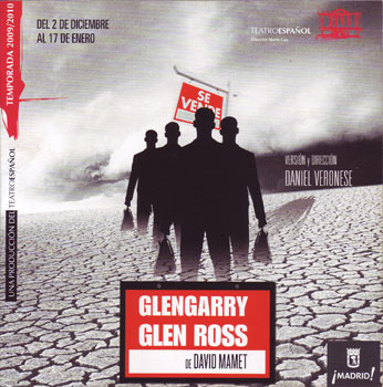 Cartel de la obra Glengarry Glen Ross