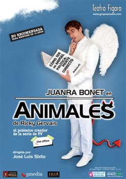 Cartel de la obra de teatro Animales