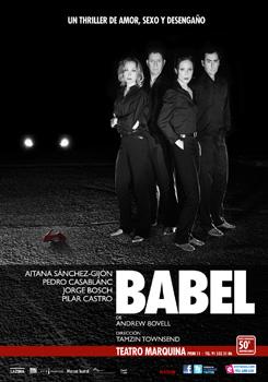Cartel de la obra de teatro Babel