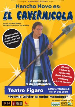 Cartel de la obra El cavernícola