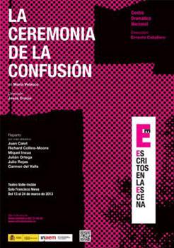 Cartel de la obra de teatro La ceremonia de la confusión