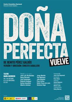 Cartel de la obra de teatro Doña Perfecta