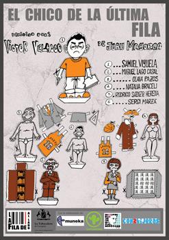 Cartel de la obra de teatro El chico de la última fila
