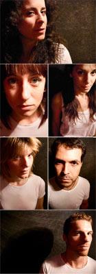 El elenco: Begoña S. Somolinos, Estela Aguilar, Silvia Maya, Eva Redondo, Jorge Fuentes y Jonathan Rod