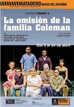 Cartel de la obra de teatro La omisión de la familia Coleman