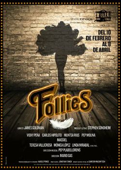 Cartel de la obra de teatro Follies