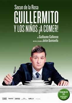 Cartel de la obra de teatro Guillermito y los niños ¡A comer!