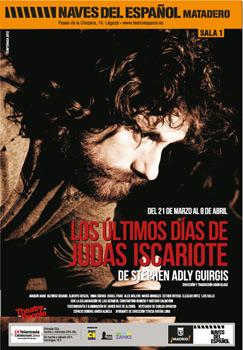 Cartel de la obra de teatro Los últimos días de Judas Iscariote