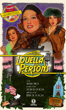 Cartel de la obra de teatro Louella Persons