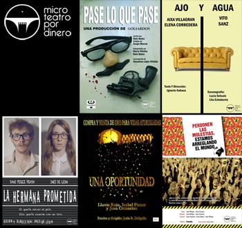 Microteatro por dinero. Obras en cartel del 4 de octubre al 4 de noviembre de 2012
