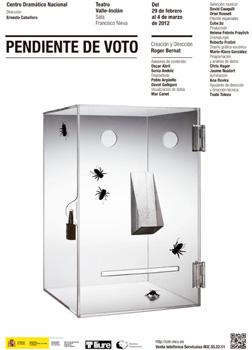 Cartel de la obra Pendiente de voto