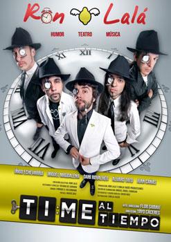 Cartel de la obra de teatro Time al tiempo