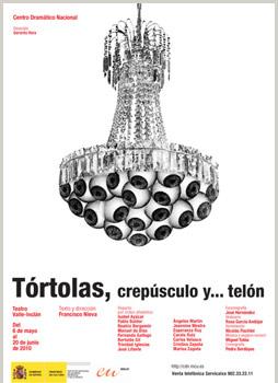 Cartel de la obra Tórtolas, crepúsculo y... telón