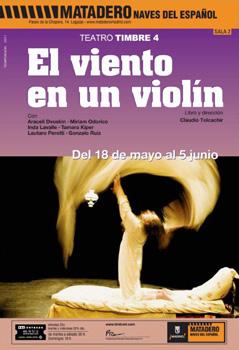 Cartel de la obra de teatro El viento en un violín