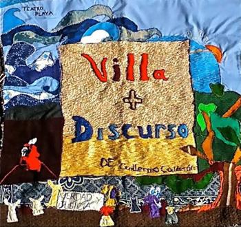 Cartel de la obra de teatro Villa+Discurso